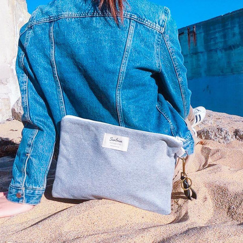 Sweat clutch bag - Gray