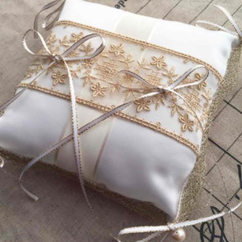 華麗なるリングピロー手作りキット(イタリア製サテン)