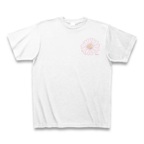ガーベラ フラワーイラストTシャツ ワンポイント