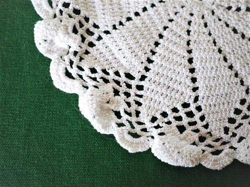 レース編み ドイリー 花瓶敷き 白 クロッシェ編み物レース