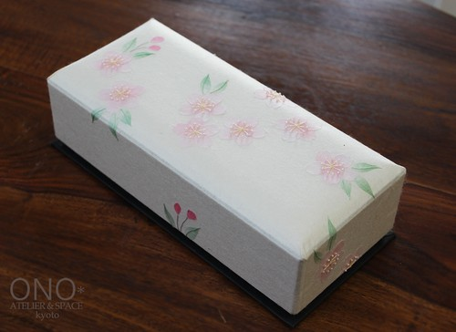 香箱(細長)手漉き和紙・桜