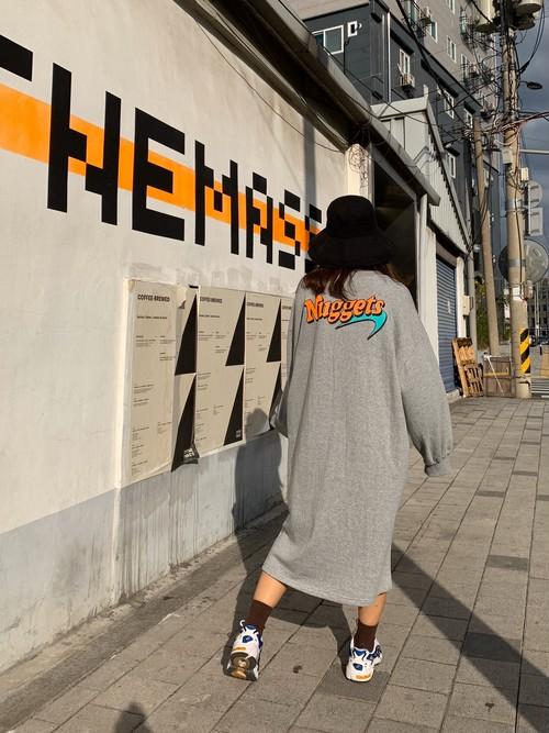 ナゲットポケットワンピース ワンピース ロングワンピース  韓国ファッション