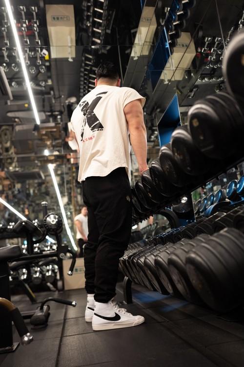 "Cutoff Raglan ""X""T-Shirts (BN/BK)の商品画像3"
