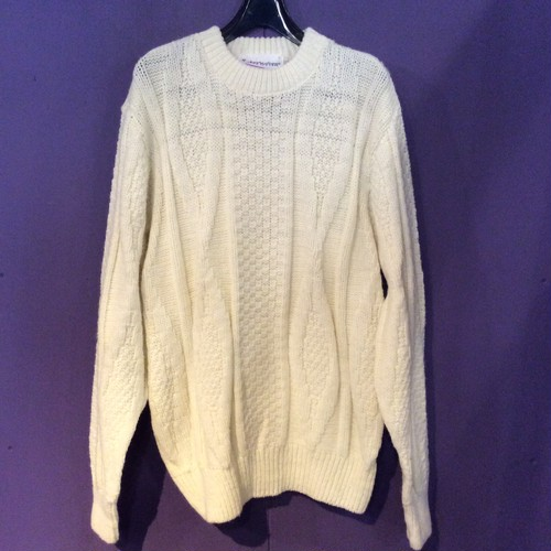 70's white design knit [B1461]