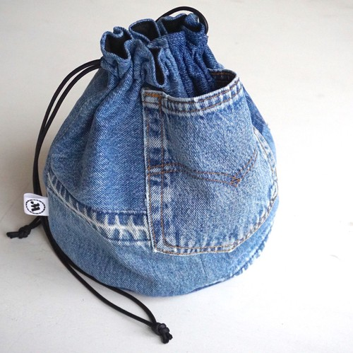 "[Magfacture] ""DRAWSTRING BAG"" Vintage Denim"