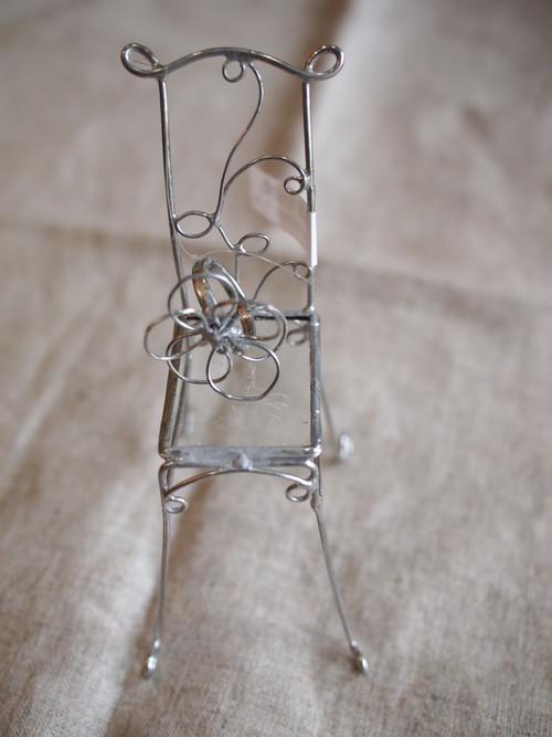 針金細工ateliersaono 大野さをり 指輪付きミニチュア椅子