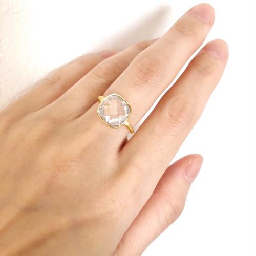 【Yum! Candy ring/clear】クリスタルのリング