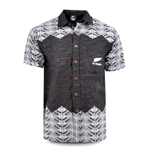 All BLACKS 2019 Aloha shirt Tapa Black