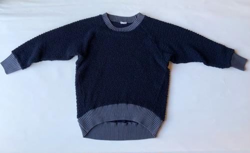 【wool pull over】wool knit/ネイビー/original textile