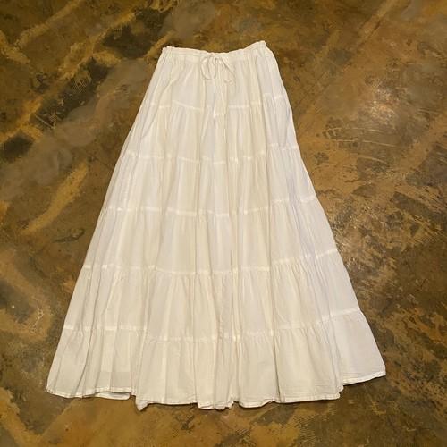 Cotton tiered skirt