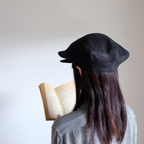 Re:19世紀の帽子 【linen hat】- black -