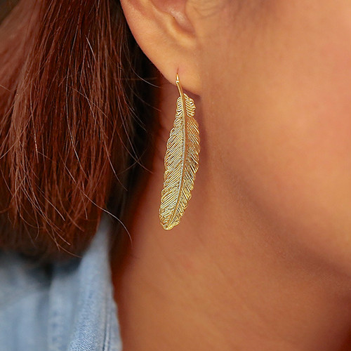 FEATHER PIERCE -gold-