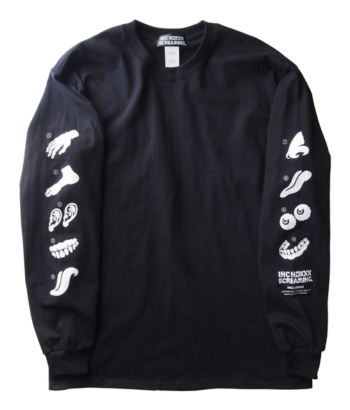 PARTs long sleeve T-shirt / BLACK