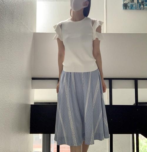 【Rene Derhy・ルネデリー】肩シースルーニットセーター(320-964)