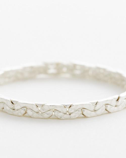 【sumikaneko】snake chain ring / silver