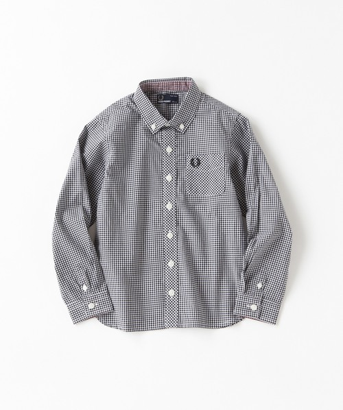 30% OFF !  Kids Fred Perry Classic Gingham Shirt ( BLACK ) キッズ フレッドペリー ギンガムチェック シャツ