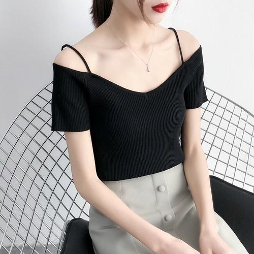 【トップス】上品で大人っぽいきれいめ系不規則Tシャツ