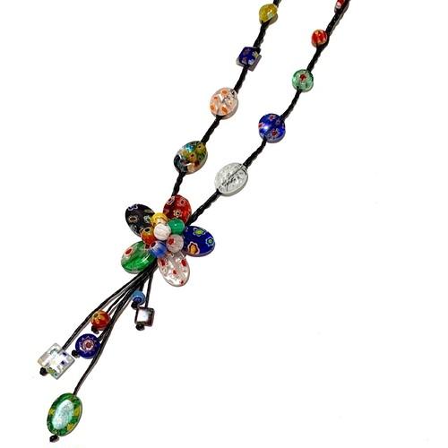 acc-035 ベネチアングラスの花ネックレス