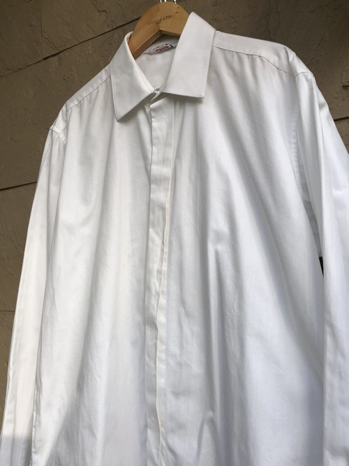 Old French white cotton shirts 1