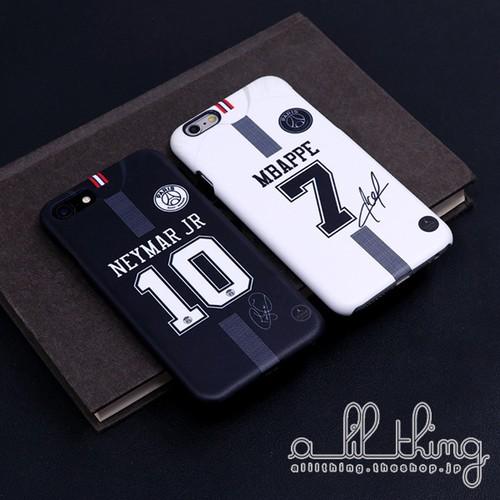 「UEFA」パリサンジェルマン 2018-19シーズン ユニフォーム ネイマール キリアンムバッペ サイン入り iPhoneXS iPhone8 ケース