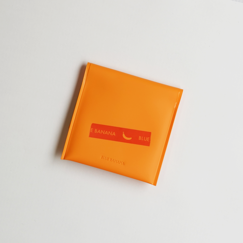 【テーププリント】ブルーバナナセカンドウォレット/オレンジ