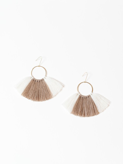 【SASAI】Threaded Cipher Earrings