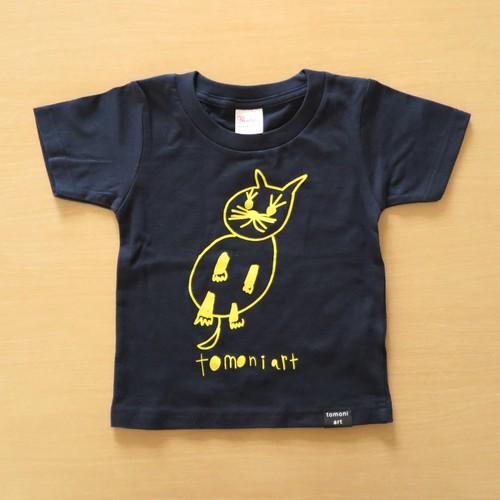 2019キッズTシャツ ネコ ネイビー