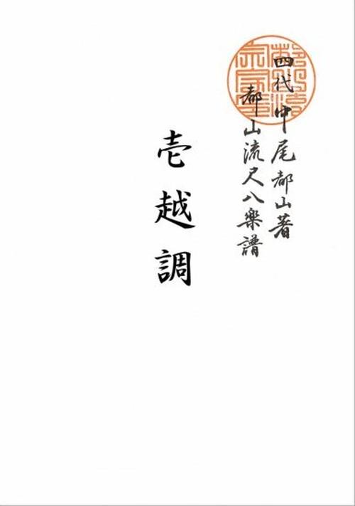T32i428 壱越調(尺八/初代 中村双葉/楽譜)