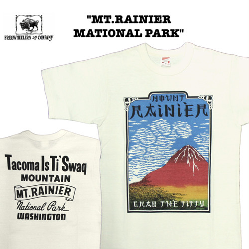 """MT.RAINIER NATIONAL PARK"" FREEWHEELERS/フリーホイーラーズ POWER WEAR Lot 1925008 Tシャツ / 半袖 / カットソー"