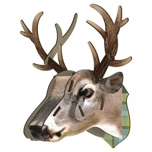 鹿*トナカイ*アニマルヘッド*壁掛*組立簡単*オブジェ*King Deer