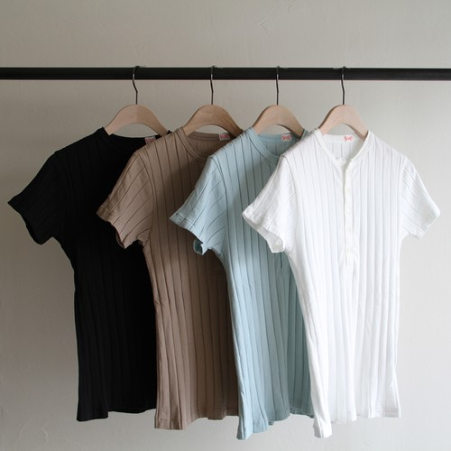 YOUNG&OLSEN  【 womens 】broad rib henly neck short