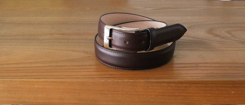 Whitehouse Cox DRESS BELT MAHOGANY