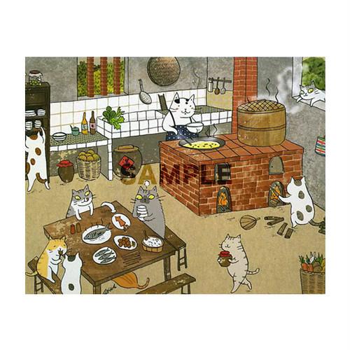 台湾ポストカード「誰家厨房飄香」