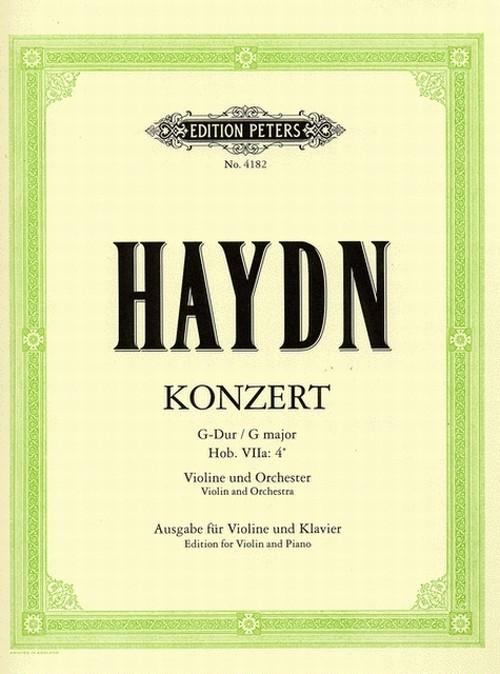 ハイドン:ヴァイオリン協奏曲 第4番 ト長調 Hob.VIIa:4 / ヴァイオリン・ピアノ