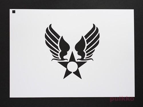ステンシルシート アメリカ空軍マーク(旧)2