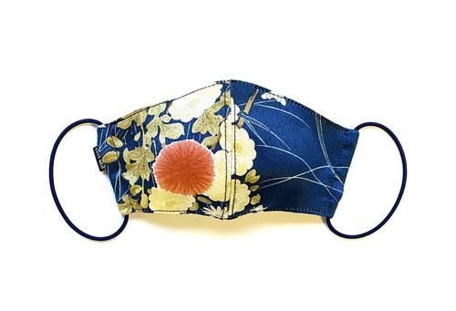 【レディース和柄マスク 高級留袖生地使用 日本製】 高級和柄マスク lw07