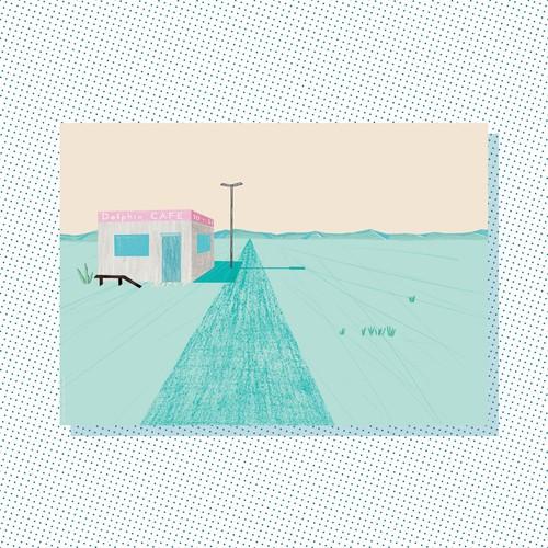 A3 Print: Dolphin cafe