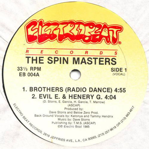 "THE SPIN MASTERS / Brothers (12"")"