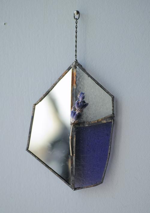 お在庫1点【contemporary mirror】purple/ラベンダー