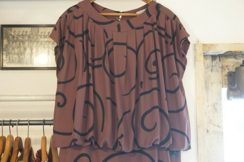 70's drop waist cocoon Dress