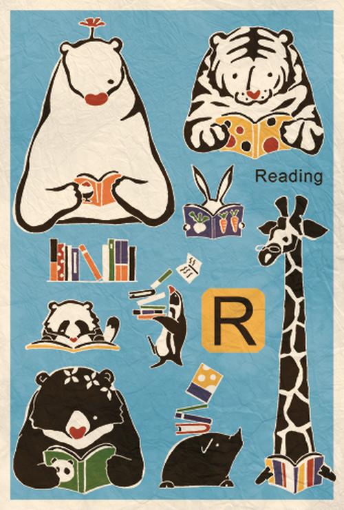 ポストカード『Reading』