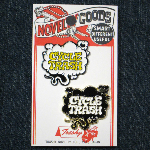 "Cycle Trash ""Fart"" logo pin badges - combo pack"