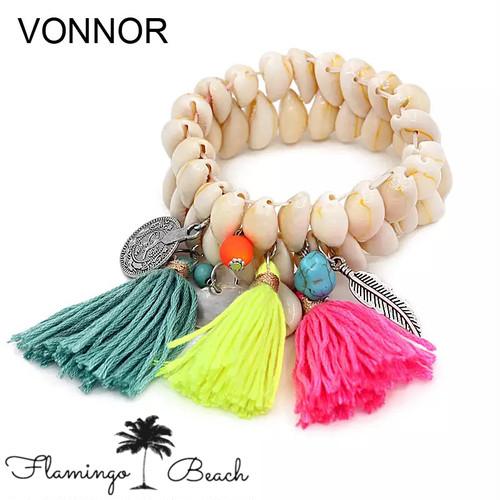 【FlamingoBeach】shell bracelet