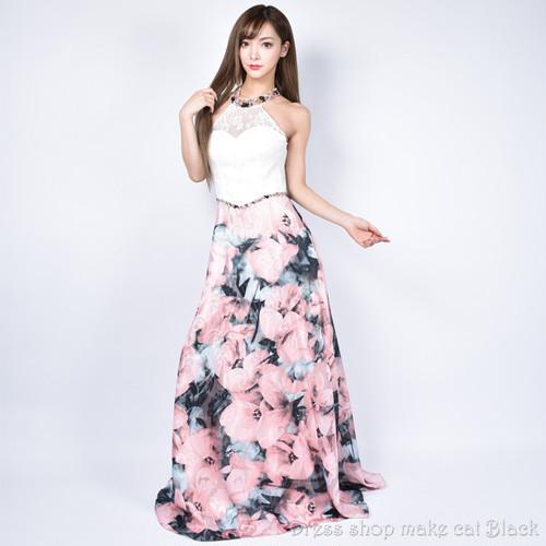 (Sサイズ) 2色展開 ロングドレス パーティードレス 女子会 二次会  b-0276