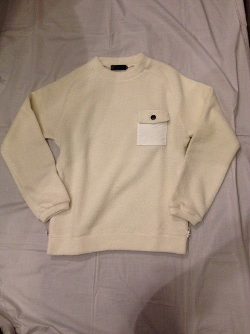 Boucle Wool Mock Neck(Re made in tokyo japan)