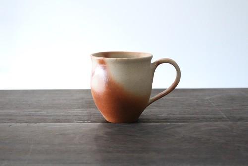 """新しい備前焼 陶芸作家【大江一人】緋襷 マグカップ  """"Hidasuki"""" Mug Cup"""