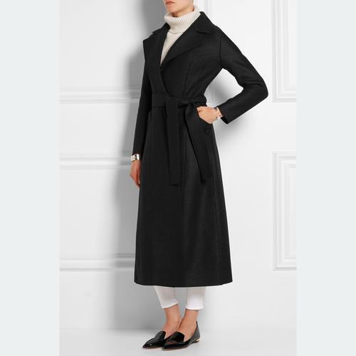 Big color belt long coat ビッグカラー ベルト ロング コート