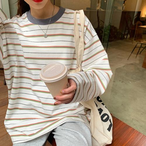 〈カフェシリーズ〉抹茶ミルクのボーダーロンT