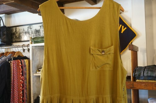 70-80's mustard rayon jumper Dress