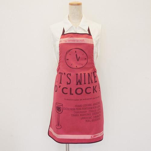 スモールエプロン ワイン・オクロック (ワインの時間です♪) Tissage Moutet/PATRICK LEBAS(パトリック・レオン